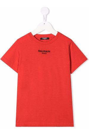 Balmain Kids Embroidered-logo T-shirt