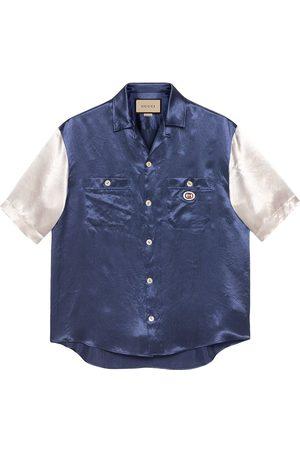 Gucci Interlocking G two-tone shirt