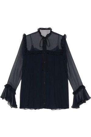 Gucci Ruffle-detail silk chiffon shirt