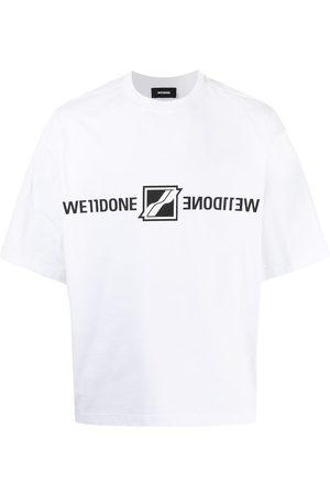 We11done Homem T-shirts & Manga Curta - Mirror-logo print T-shirt