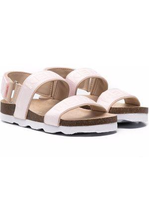 Kenzo Kids Logo-print double strap sandals