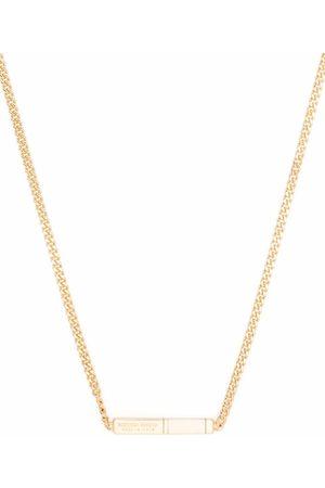 Bottega Veneta Homem Colares - Logo plaque chain necklace