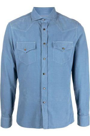 Brunello Cucinelli Two-pocket corduroy shirt