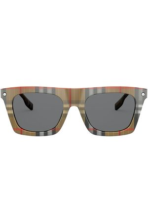 Burberry Eyewear Camron checked square sunglasses