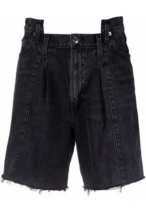 AGOLDE Panelled knee-length denim shorts