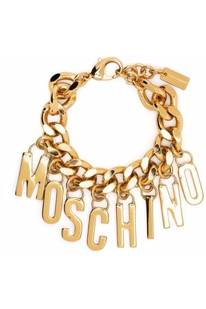 Moschino Logo-lettering chain bracelet