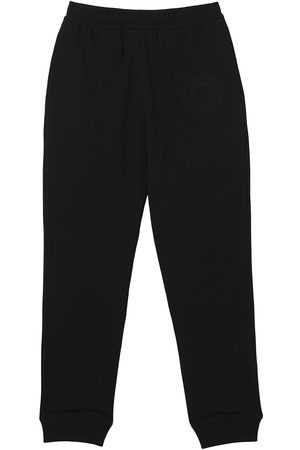 Burberry Embroidered-logo cropped sweatpants