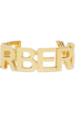 Burberry Senhora Pulseiras - Logo-lettering cuff bracelet