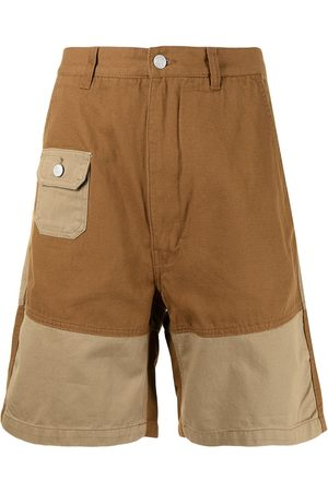 Izzue Two-tone panelled shorts