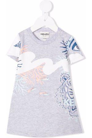 Kenzo Kids Tiger-print T-shirt dress