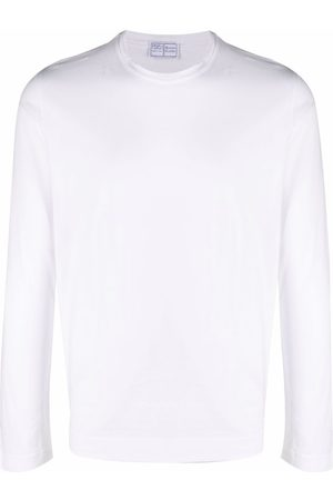 FEDELI Longsleeved crewneck cotton T-shirt
