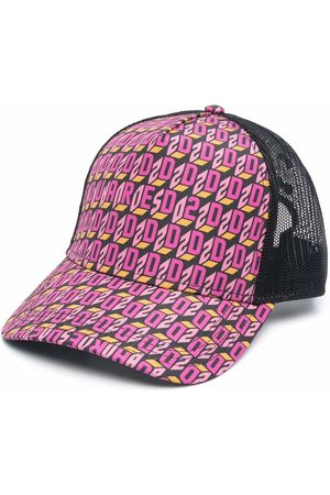 Dsquared2 Monogram-print mesh-detail cap