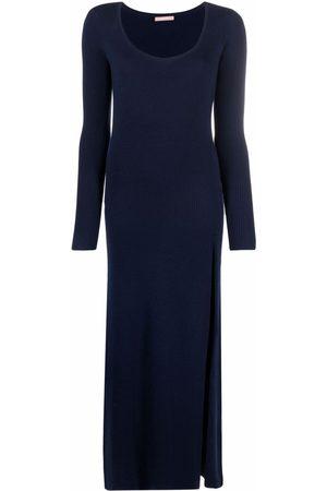 12 STOREEZ Split-embellished ribbed-knit dress