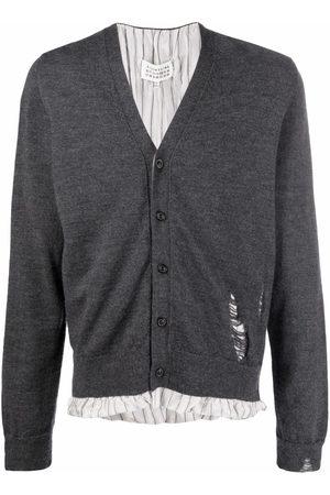 Maison Margiela Distressed-detail knit cardigan