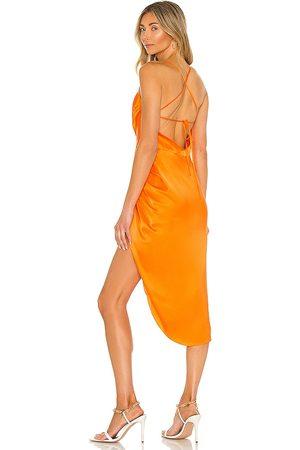 Amanda Uprichard X REVOLVE Jasalina Dress in - Orange. Size L (also in S, M, XS).
