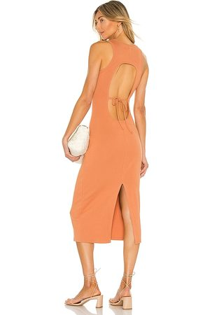 Lovers + Friends Carrie Midi Dress in - Tan. Size L (also in XS, S, M, XL).