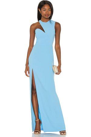 Amanda Uprichard Senhora Vestidos de Festa - X REVOLVE Gilda Gown in - Baby Blue. Size L (also in S, M, XS).
