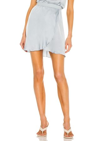 Nation LTD Cassidy Mini Skirt in - Baby Blue. Size L (also in S, XS, M).