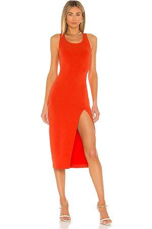 NBD Adilia Midi Dress in - Red. Size M (also in XXS, XS, S, XL).
