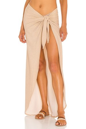 Nookie X REVOLVE Long Sarong in - Metallic Gold. Size all.