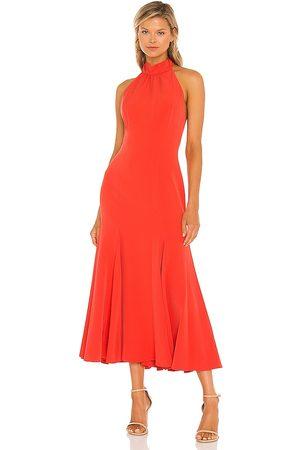 Milly Senhora Vestidos Midi - Penelope Midi Dress in - Burnt Orange. Size 0 (also in 4, 6, 8, 10).