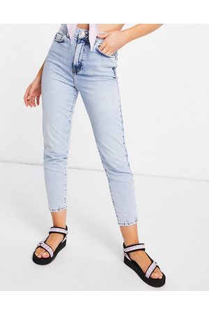 New Look Waist enhance mom jean in light blue