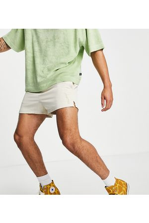 Collusion Shorts with embroidery co-ord in beige-Neutral
