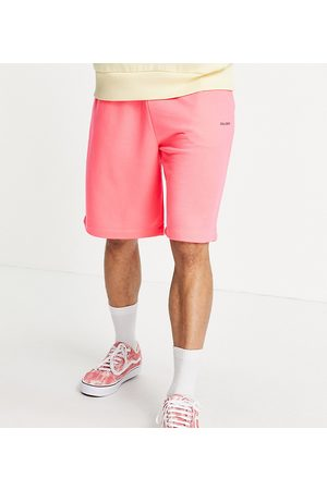 COLLUSION Oversized shorts in neon pink co-ord