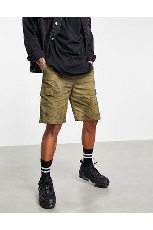 Vintage Supply Homem Calções - Vintage Suppply cargo shorts in khaki-Green