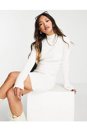 Pretty Lavish Abbey knit mini dress in cream-White