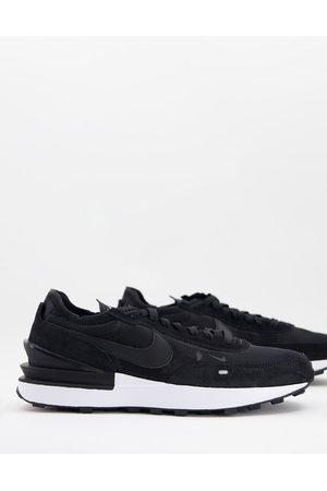 Nike Waffle One mesh trainers in black