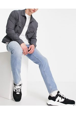 ASOS Slim jeans in 90's tinted mid wash-Blue