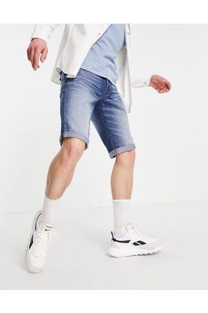 G-Star 3301 denim shorts in light wash-Blue
