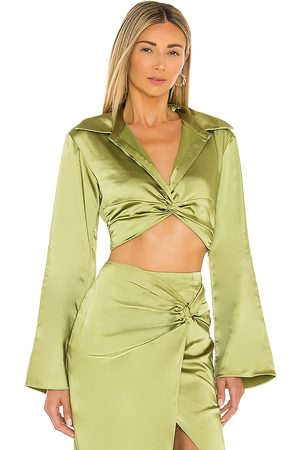 L'Academie Franca Top in - Green. Size L (also in S, M).