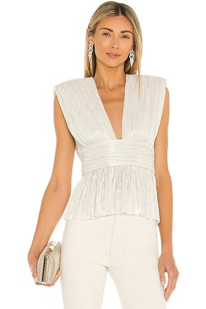 Sabina Musayev Shelby Top in - White. Size L (also in XS, S, M).
