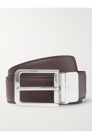 DUNHILL 3.5cm Reversible Full-Grain Leather Belt