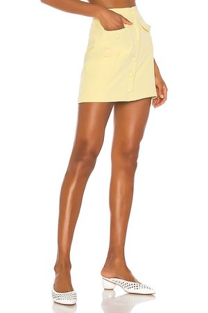 Song of Style Gala Mini Skirt in - Yellow. Size L (also in S, XXS, XS, M).