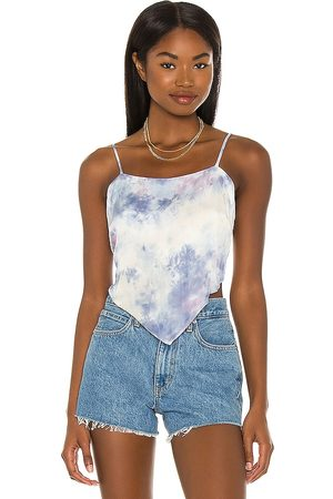 Young, Fabulous & Broke X REVOLVE The Joni Scarf Tank in - Blue. Size L (also in XS, S, M).