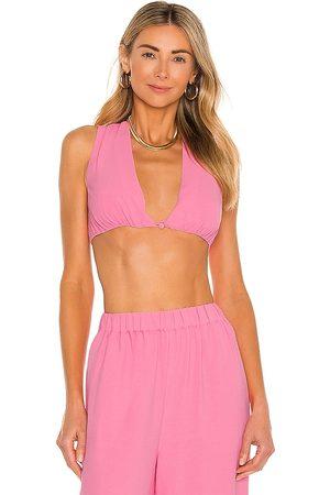 Camila Coelho Devon Crop Top in - Pink. Size M (also in XXS, XS, S, XL).