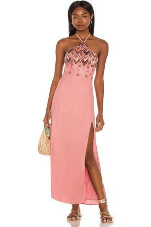 House of Harlow X Sofia Richie Marlena Embroidered Maxi Dress in - Pink. Size L (also in XXS, XS, S, M, XL).