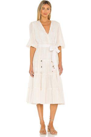 Karina Grimaldi Senhora Vestidos Midi - X REVOLVE Soraya Midi Dress in - . Size L (also in XS, S, M).
