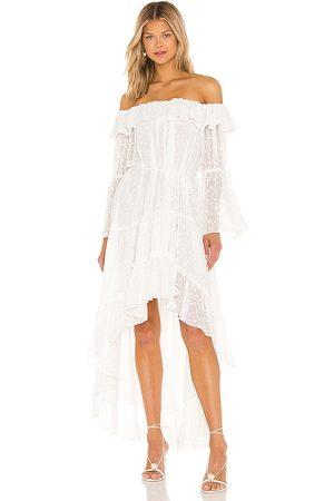 MISA Aerin Dress in - White. Size L (also in XS, S, M).