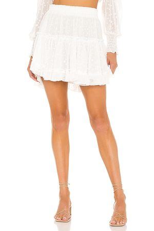 MISA Marion Skirt in - White. Size L (also in XS, S, M).
