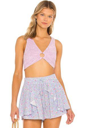 MAJORELLE Devyn Top in - Lavender. Size L (also in XXS, XS, S, M, XL).