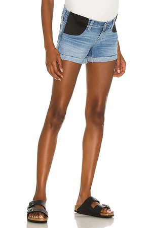 Paige Jimmy Jimmy Maternity Short With Elastic Waistband in - Blue. Size 24 (also in 25, 26, 27, 28, 29, 30, 31, 32).