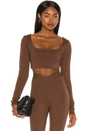 LPA Nora Top in - Brown. Size L (also in XXS, XS, S, M).