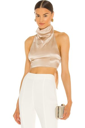 Amanda Uprichard Kaye Top in - Nude. Size L (also in XS, S, M).