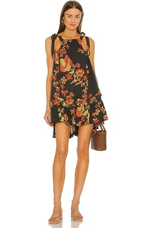 Free People Fleur Printed Tunic in - Charcoal. Size L (also in S, XS, M, XL).