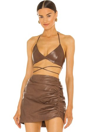 LaMarque X REVOLVE Melka Top in - Chocolate. Size L (also in XS, S, M).