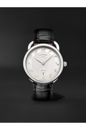 HERMÈS TIMEPIECES Arceau Automatic 40mm Stainless Steel and Alligator Watch, Ref. No. 055574WW00